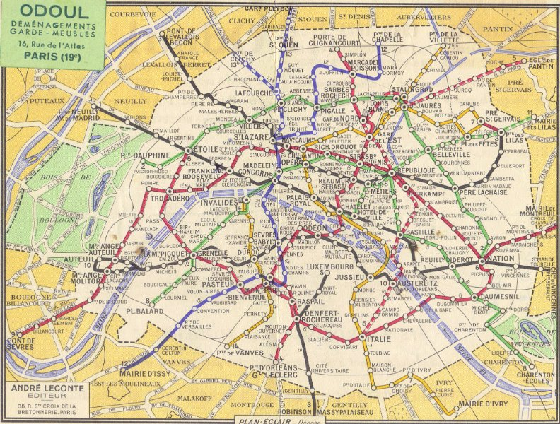France Subway Map.Album Dreux Pictures From Charles Sibert Subway Map Paris France 1960